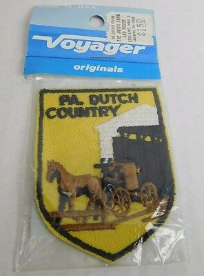 Vtg New Voyager PA Dutch Country Pennsylvania Souvenir Sew On Embroidered Patch