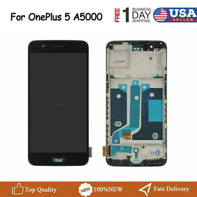 for OnePlus 5 Five A5000 LCD Glass Digitizer Touch Screen with Frame Replacement