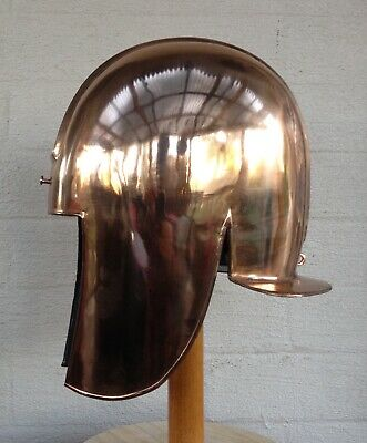 Ancient Greek Bronze Illyrian Hoplite Helmet Armour Replica