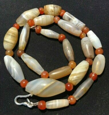 Superb ancient Bactrian agate bead necklace