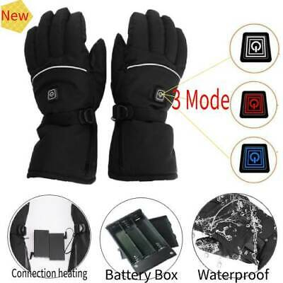 Electric Battery Powered Full Finger 3 Mode Winter Hand Warm Heated Ski Gloves