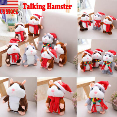 Cute Cheeky Hamster Talking Mouse Pet Plush Toys Speak Sound Record Xmas Gifts