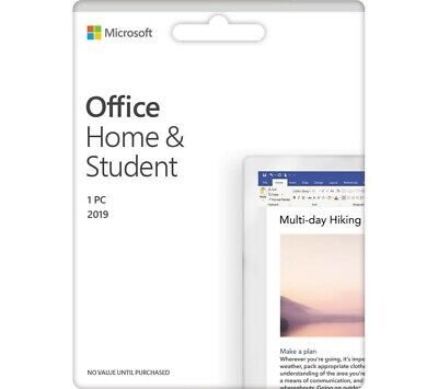 Microsoft Office Home & Student 2019 - (PC) Genuine Lifetime License - Download