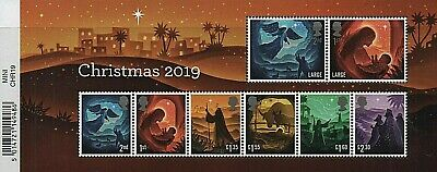 GB Stamps 2019 'Christmas' minisheet (with barcode) - U/M