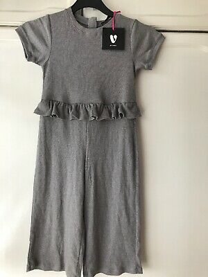 Girls Jumpsuit Brand New With Tags Grey Very Jumpsuit Age 7 Girls Outfit