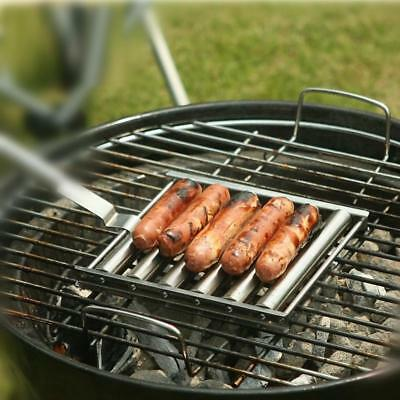 Bbq Hot Dog Roller Outdoor Stainless Steel Grill Barbecue Cooking Rolling Tool