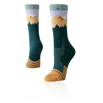 Stance Mujer Ridge Line Hike Calcetines - Verde Deporte Exterior Transpirable