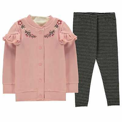 Kids Girls Crafted 3 Piece Jogger Set Infant Fleece Tracksuit Long Sleeve New
