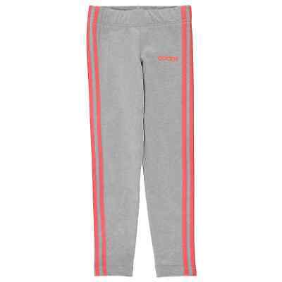 Kids Girls adidas 3 Stripe Tights Performance Breathable New
