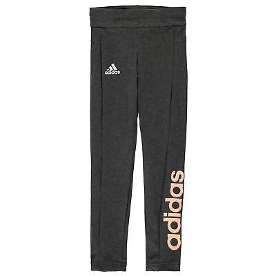Kids Girls adidas Essentials Linear Tights Junior Performance Stretch New