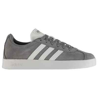 Kids adidas VL Court Suede Junior Trainers Lace Up Stripe New