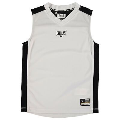 Kids Boys Everlast Basketball Jersey Junior Performance Vest Sleeveless New