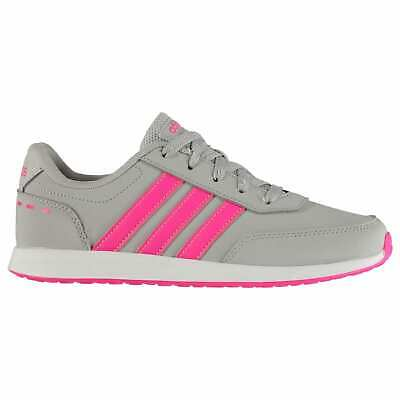 Kids Girls adidas Switch 2 Trainers Junior Runners Lace Up Stripe New