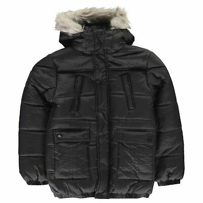 Kids Boys Firetrap Luxury Parka Junior Puffer Jacket Long Sleeve New
