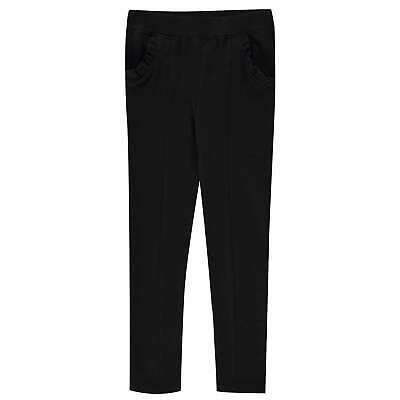 Kids Girls Crafted Ponte Trousers Skinny Slim Fit New