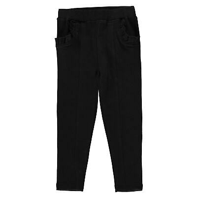 Kids Girls Crafted Ponte Trousers Infant Slim Jeans Lightweight New