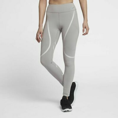 Nike Running Epic Lux Graphic Tights - Size Medium - AH6090-027 - Grey