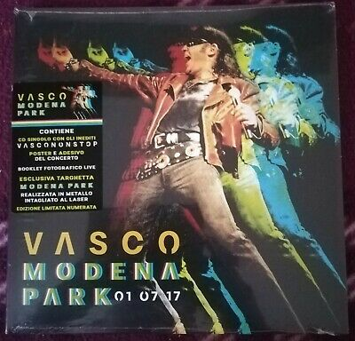 VASCO ROSSI FAN KIT NUMERATO MODENA PARK CDs, TARGA IN METALLO, POSTER, BOOKLET