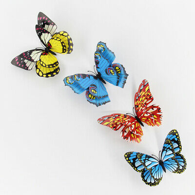 12pcs Fridge Magnets Cute Artificial Butterfly Refrigerator Magnets for Office