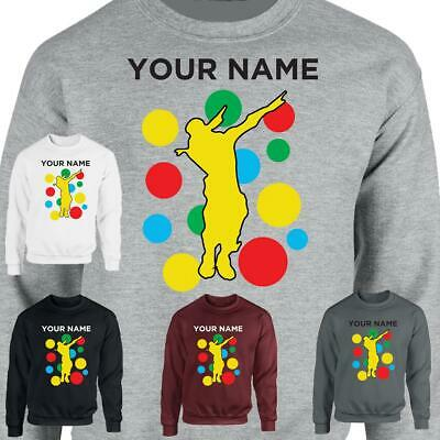 Children In Need Spotty Floss Dab Pullover Back Name Black Inspired Sweat Shirt