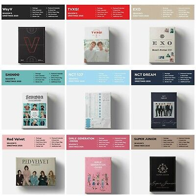 2020 SM ARTIST SEASON'S GREETINGS SHINee NCT RED VELVET EXO SNSD SJ TVXQ WayV