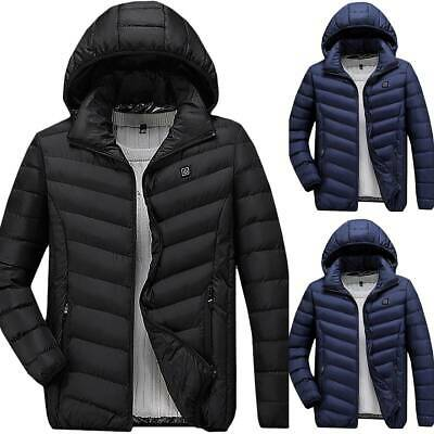 Mens Womens Electric USB Heated Pad Coat Heated Hoodie Jacket Body Warmer Winter