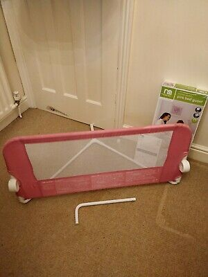Mothercare Bed Rail For Infant Or Single Bed, pink in excellent condition