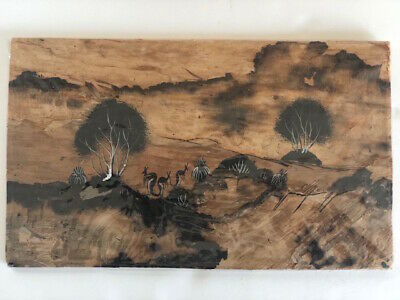 Authentic Australian Aboriginal Traditional Arts Painted on Bark from 10/15/78