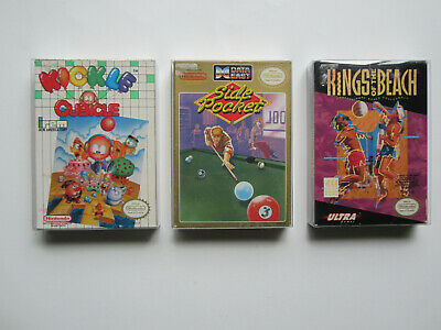 Lot of 3 Nintendo Entertainment System NES Boxed Games Kicle Cubicle