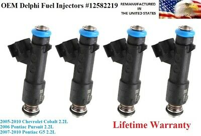 DELPHI FUEL INJECTORS 4X for 1992-1997 CHEVY-GMC-BUICK-PONTIAC-OLDS-ISUZU  2.2L