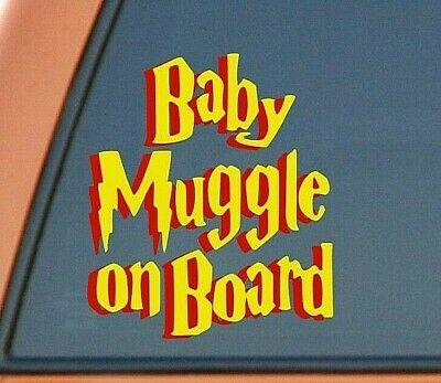 Baby Muggle On Board - Harry Potter Vinyl Decal Sticker For Car & Truck Windows