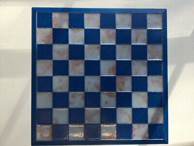 """11""""x11"""" Chess Board Only No Set Marble Pattern Educational Games Made in the USA"""