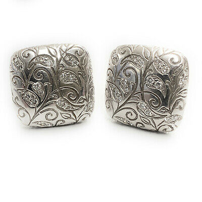 Seidengang 18K White Gold & Diamond Laurel Earrings