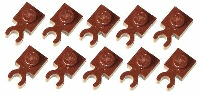 4085d Lego 10x Reddish Brown Plate Modified 1x1 with Vertical Clip NEW!!!