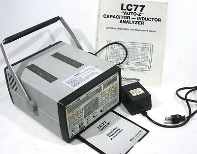 "SENCORE LC77 ""AUTO-Z"" Capacitor - Inductor Analyzer with Manual & Power Adapter"