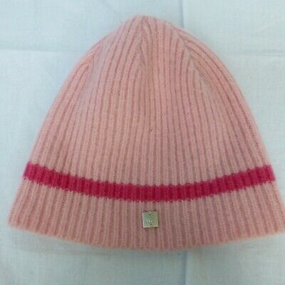 Girls Ted Baker pink wool beanie hat approx 8-10 years