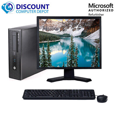 "HP Desktop Computer PC🚩Core i5 16GB 2TB 256GB SSD🚩22"" LCD Wifi Windows 10 Pro"