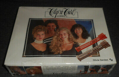 New VINTAGE Olivia Garden CLIP 'n CURL Jumbo Long Hair PERM Curlers Set SEALED
