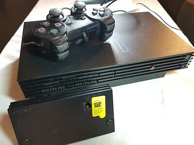 Sony Playstation 2 SCPH-30001 Black Withe PS2 HDD Network Adapter,Component cabl