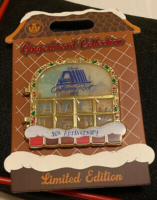 Disney Contemporary Resort Christmas Gingerbread 10th Anniversary Layered Pin LE