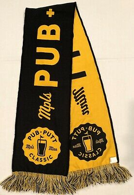 Minneapolis MN Pub and Putt Bar Golf Open Winter Scarf Alcohol Prize Promo