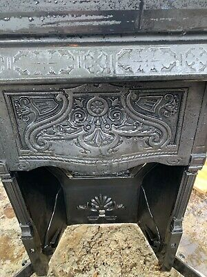 Edwardian Cast Iron FIreplace with intricate floral detailing