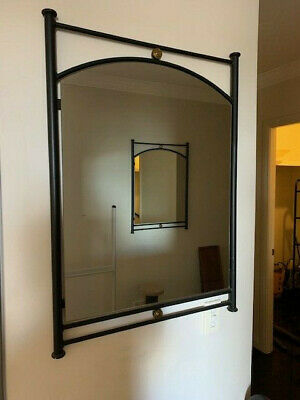 Pair Of Matching Wrought Iron Mirrors With Brass Detail -  P/Up 2325