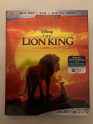 The Lion King, 2019 - Live Action (Blu-Ray + DVD) (NO DIGITAL COPY)