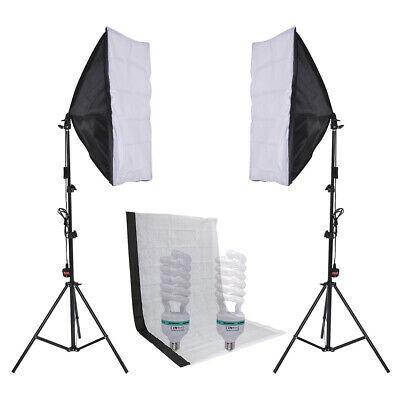 2x3m Photography Studio Backdrop Umbrella Lighting Kit Background Support Stand