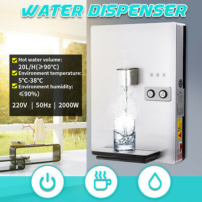220V 550W Water Cooler Table Top Household Ice Warm & Cold Hot Water Dispenser