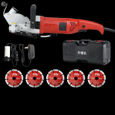 220V Electric Wall Chaser Groove Steel Concrete Cutting Slotting Machine Upgrade