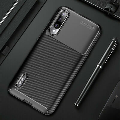 For Xiaomi Mi A3 A2 Lite Pocophone F1 Slim Carbon Fiber Soft TPU Back Case Cover