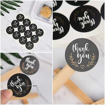 Round Thank You Hand Made With Love Labels Stickers Gift Food Craft Box Thankyou