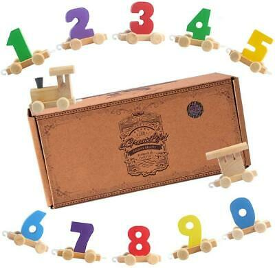 AGREATLIFE Digital Small Wooden Train: Best Educational Set of Trains with...
